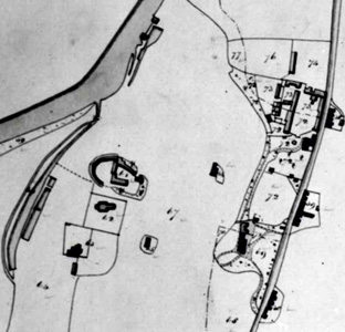 Little Barford deserted medieval village in 1840 [MAT2/1]